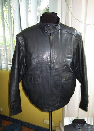 Кожаная мужская куртка - трансформер. бомбер. германия. лот 549