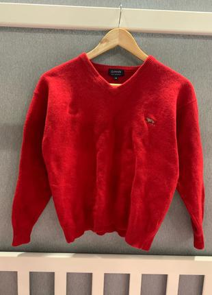 Gant красный шерстяной свитер свитшот женский