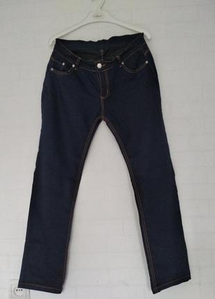 Штаны темно синие под джинсы