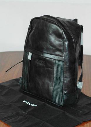 Кожаный рюкзак police, новый и оригинальный