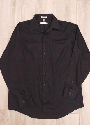Рубашка мужская чёрная XL