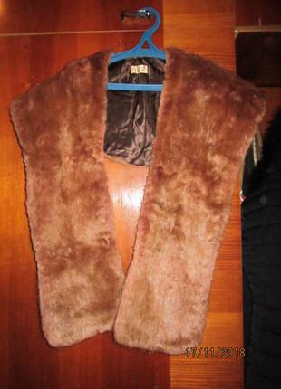 Воротник -  шарф  натуральный мех
