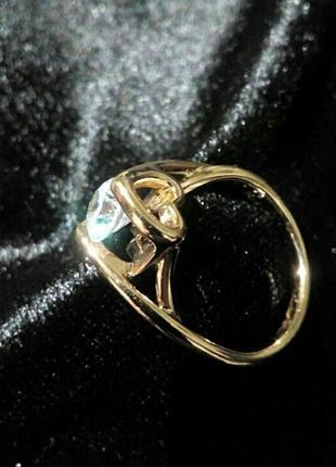 Ко дню всех влюбленных!кольцо 16,5р качественная бижутерия