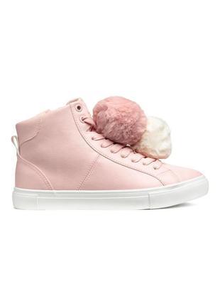 Милые ботиночки h&m с помпонами 37-38