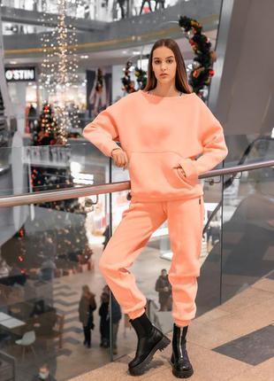 Теплый костюм из толстого турецкого футера 3-х нитки на флисе ...