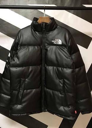 Пуховик кожаная куртка tnf