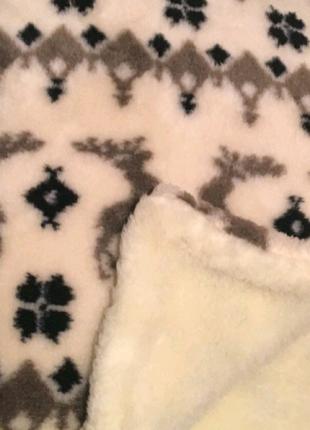 Покрывало одеяло овечья шерсть флис