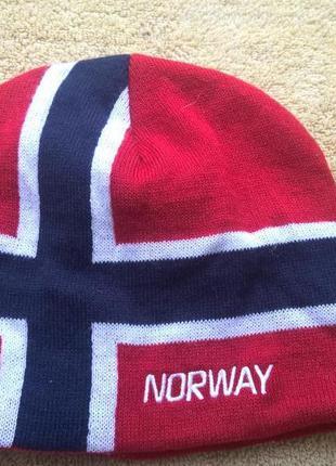 "Трендовая шапка норвегия ""norway"".унисекс."