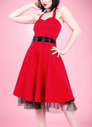 Винтажное платье в ретро стиле стиляги hearts& roses  из сша