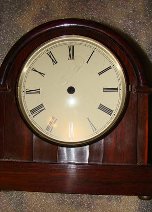 Антикварный корпус часов с циферблатом из розового дерева