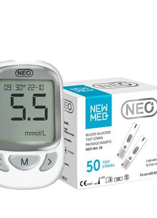 Глюкометр NEO+Тест-полоски Neo №50 (NewMed) в подарок