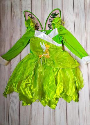 Платье фея динь-динь 7-8 лет