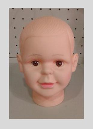 Манекен Голова детская (силикон), 48 см