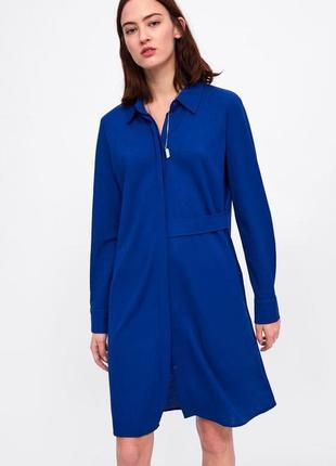 Платье zara в рубашечном стиле 48-52