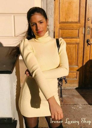 Лимонное платье -гольф от zara s-m-l zara