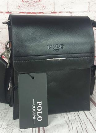 Маленькая Мужская МИНИ сумка-планшет Polo с ручкой. КС65-1