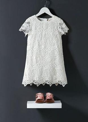 Ажурное платье young dimention 6-7 лет