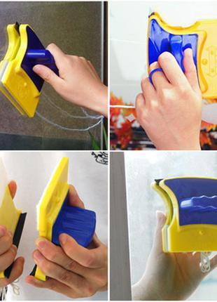 Магнитная щетка для мытья окон Glass Wiper UTM