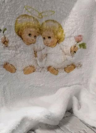 Крыжма крещение микрофибра Ангелочки 90*90