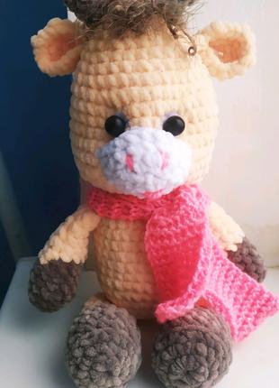 Плюшевая игрушка коровка