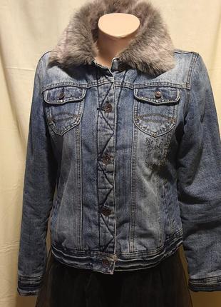 Джинсовая коттоновая утепленная куртка Miss Sixty M 44-46 EU