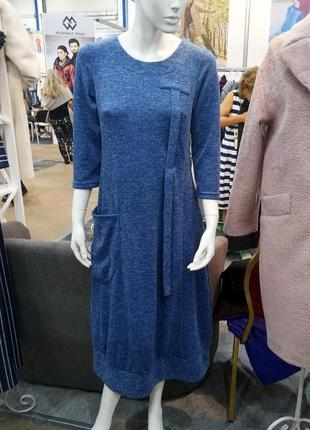 Модно платье в бохо стиле season голубого цвета