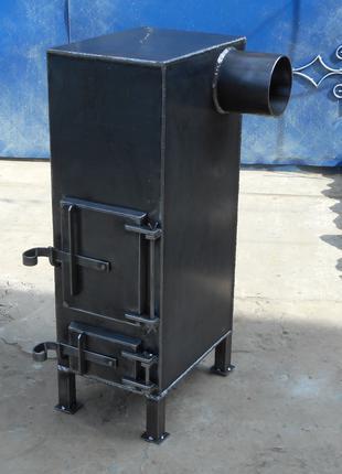 Добротная печь из стали 4 мм / ручная работа