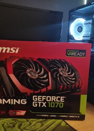 Видеокарта MSI Gaming GeForce GTX 1070 8GB + ВИДЕО С ТЕСТОМ