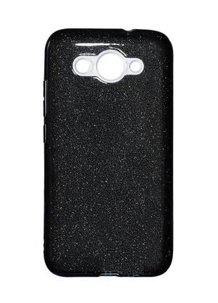 Чехол бампер силиконовый shine huawei y3 2017, y3 2018 черный