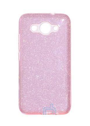 Чехол бампер силиконовый shine huawei y3 2017, y3 2018 розовый