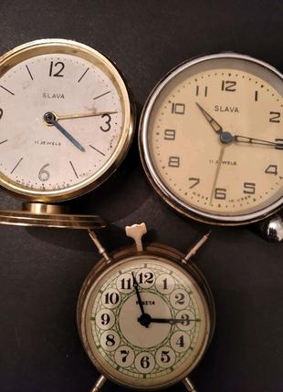 Часы - будильник СССР, Ракета, Slava
