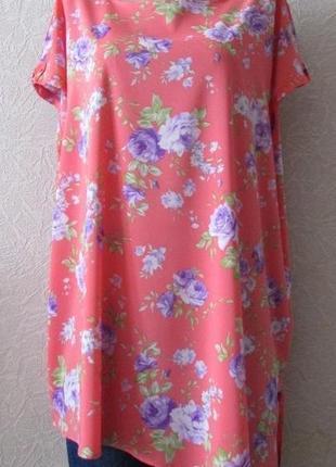 Платье туника кейт, большой размер