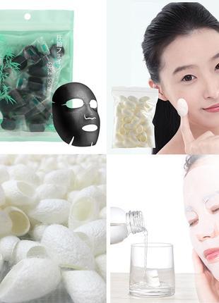 Увлажняющая отбеливающая очищающая хлопковая маска против морщин