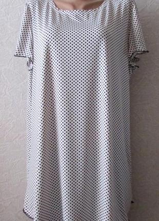 Платье туника шармель бел., большой размер