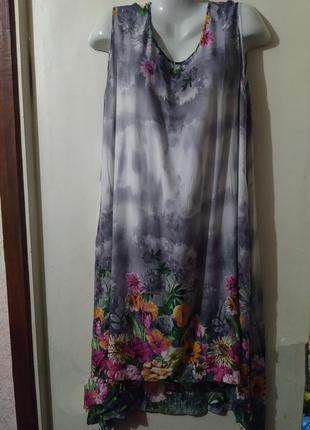 Платье,сарафан женский, штапель батал
