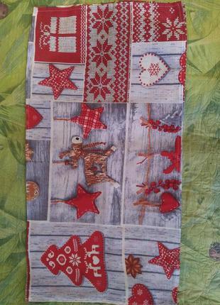 Вафельное кухонное полотенце, новогоднее