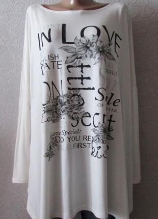 Платье туника love style, пр-во турция, большой размер