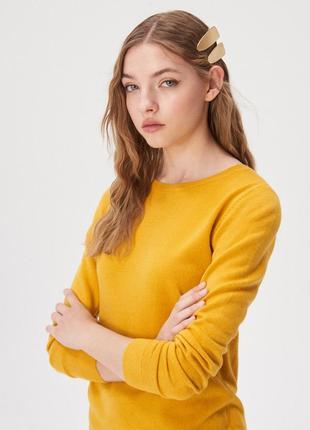 Новая оранжевая желтая кофта темно-желтый свитер джемпер польш...