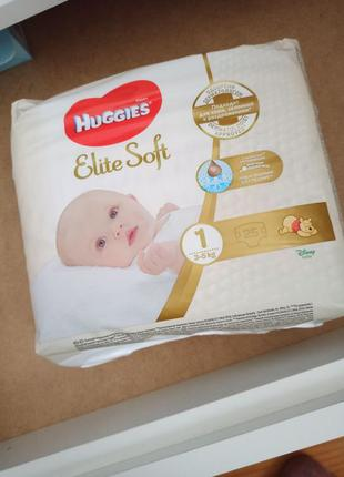 Продаю підгузники Huggies Elite soft 1
