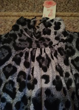 Блузка баска леопардовая