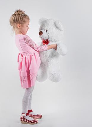 Плюшевый мягкий мишка Yarokuz Джимми 90 см Белый
