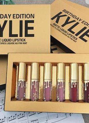 Набор жидких матовых помад Кайли Дженнер Kylie Jenner 6 оттенков