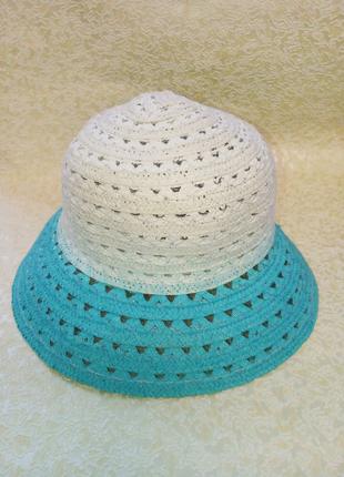 Шляпа летняя плетенная