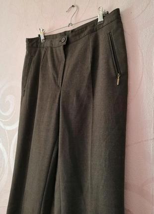 Коричневые брюки со стрелками, шерсть