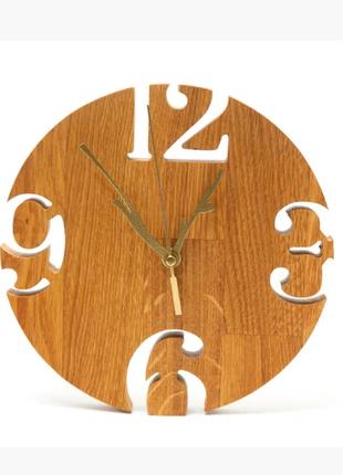 """Интерьерные настенные деревянные часы дизайнерские """"Модерн"""" Ручна"""