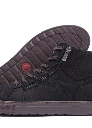 Мужские зимние кожаные ботинки ZG Black Exclusive New
