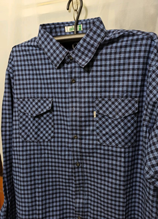 Мужская рубашка большого размера БАТАЛ чоловіча нова хлопок байка