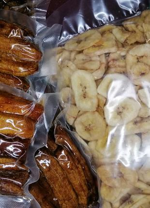 Банановые чипсы, банан вяленый