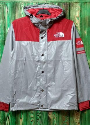 Куртка Supreme x The north face red
