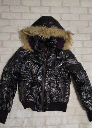 Брендовая, теплая куртка на меху. бренд jump &fish